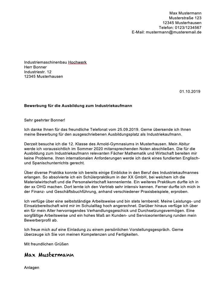 Bewerbung Industriekaufmann 2021 Inkl Muster Jobs Regional