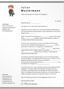 Bewerbungsschreiben Muster für Berufswechsler 1